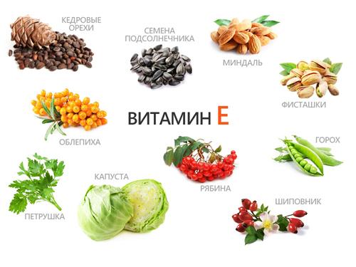 Пищевые источники витамина Е